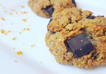Biscuits sans gluten orange et chocolat noir à la farine d'amandes
