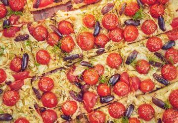 Tarte salée au fenouil, aux tomates et aux olives