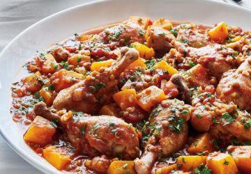 Pilons de poulet aux tomates et aux lentilles