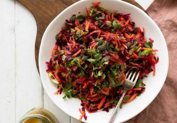 Salade de betteraves & de carottes (de type salade de chou)