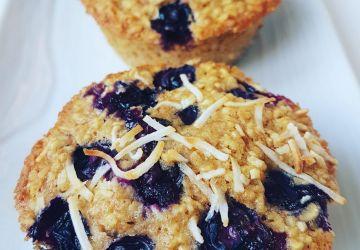 Muffins avoine et bleuets sans produits laitiers