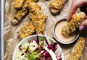 Bâtonnets d'aiglefin au quinoa