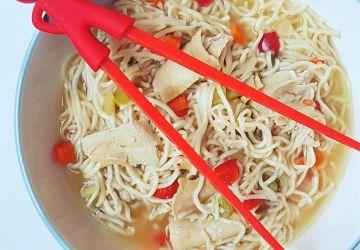 Soupe ramen au poulet ou végé pour le thermos des enfants… et des grands