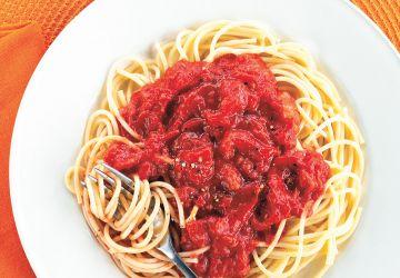 Spaghettis sauce tomate au cantaloup