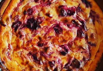 Tarte au fromage aux canneberges légère
