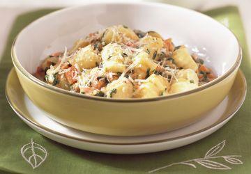 Gnocchis à la sauce tomate et épinards