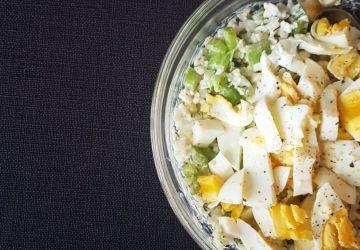 Salade aux oeufs revisitée