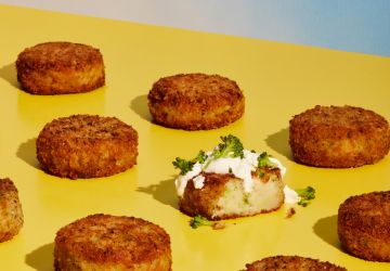 Galettes de pommes de terre etbrocoli