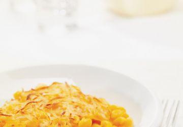Gratin de macaroni à la purée de carotte
