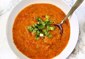 Gaspacho aux poivrons grillés