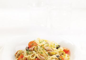 Linguines au thon et aux olives