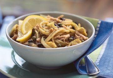 Spaghettis au thon et aux artichauts
