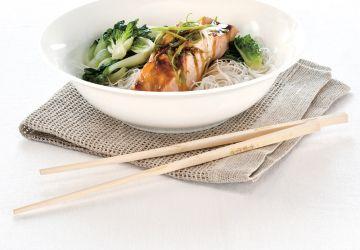 Saumon asiatique à la vapeur