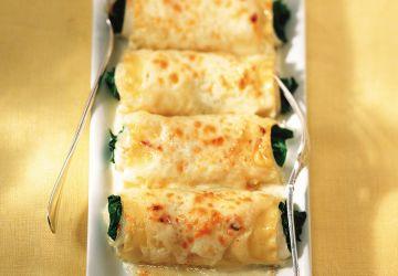 Roulade de sole aux épinards et au parmesan