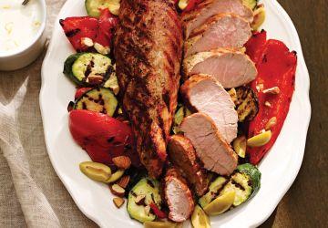Filets de porc grillés au fenouil et au piment
