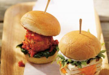Mini-burgers aux boulettes marinara