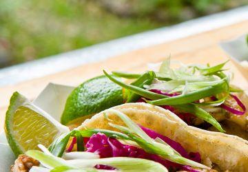 Tacos au porc braisé et à l'embeurrée de chou de Grumman