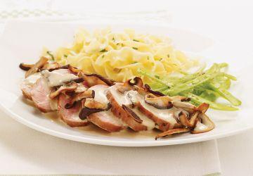 Filets de porc, sauce aux champignons