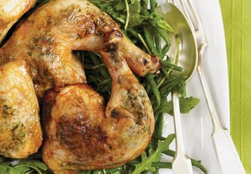 Cuisses de poulet aux herbes