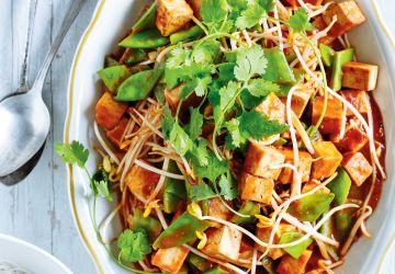 Tofu au miso et à la tomate