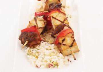 Brochettes de tofu asiatiques