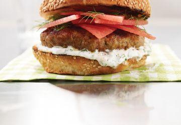Hamburgers de veau et melon d'eau