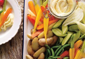 Plateau de légumes et aïoli
