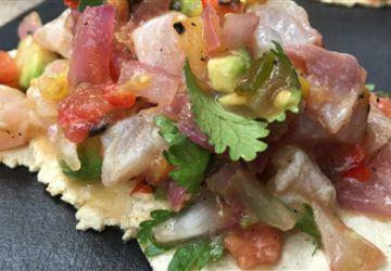 Tacos de poisson cru