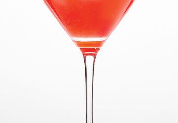 Cocktail à la framboise et à l'Aperol