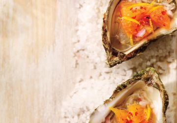 Huîtres et mignonnette à l'orange