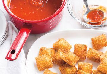 Raviolis frits, sauce marinara