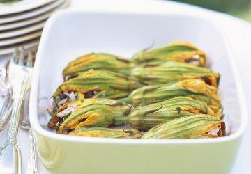 Fleurs de courgette farcies aux petits légumes