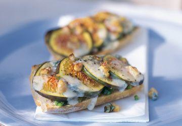 Crostini aux figues et au gorgonzola