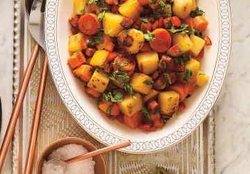 Légumes braisés au chorizo