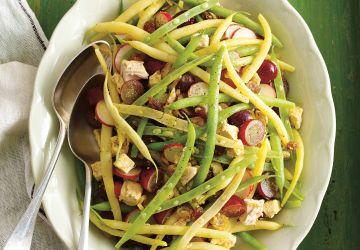 Salade de haricots au poulet et aux raisins