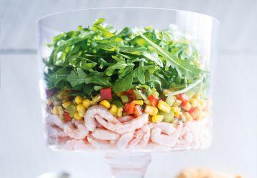 Salade de crevettes nordiques et de maïs