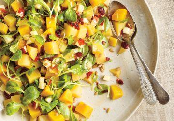 Salade de betteraves aux pommes et aux canneberges