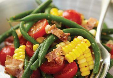 Salade de haricots verts et de maïs
