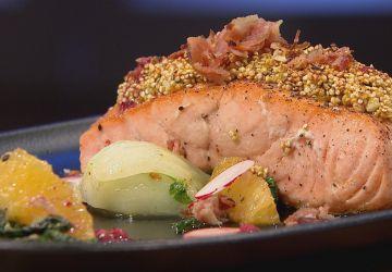 Saumon en croûte de quinoa croquant