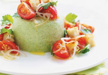 Salade autrement (Panna cotta à la laitue)