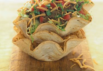 Salade tortilla au boeuf