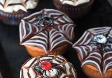 Cupcakes toile d'araignée