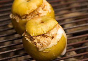 Croustade aux pommes inversée sur le BBQ
