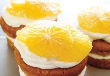 Petits gâteaux aux carottes et crème au mascarpone