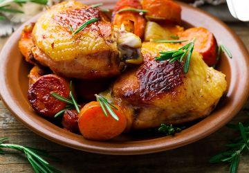 Poulet et patates douces à l'érable