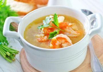 Soupe au porc et aux crevettes