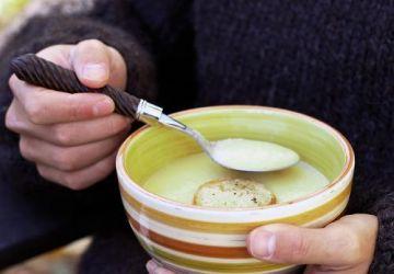 Crème de chou-fleur cheddar aux pommes