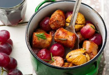 Saucisses aux raisins et figues