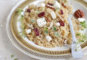 Salade de quinoa, pacanes et canneberges