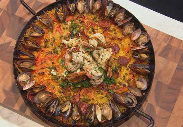 Paella par le chef Martin Juneau